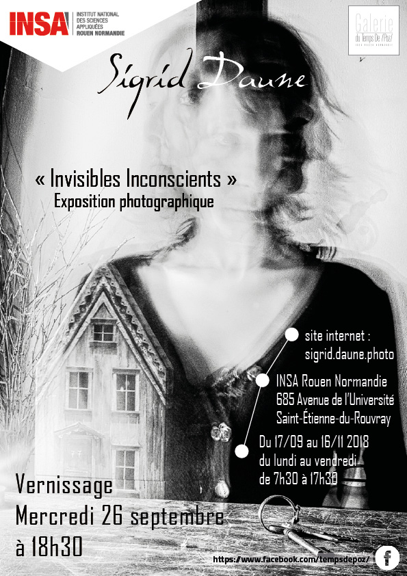 Affiche exposition Invisibles inconscients