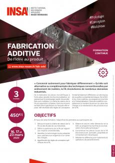 Visuel fiche formation fabrication additive